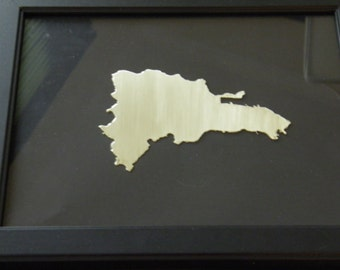 DOMINICAN REPUBLIC,  personalized  framed design of the country of Dominican Republic, all countries available