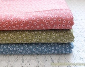 Tiny Chic Cherry Blossom Sakura Little Flowers Basic Floral Pattern, Choose Color - Japanese Cotton Fabric (Fat Quarter)