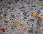 Pink Alice in Wonderland fabric from Japan Cosmo- Half Yard