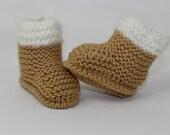 Instant Digital File pdf download Knitting pattern-  Chunky Baby Fur Top Booties pdf download knitting pattern