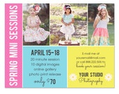 Spring, Summer Mini Session Template for Photographers - INSTANT DOWNLOAD