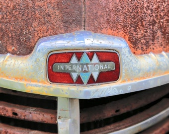 Old Truck - Rusty Old Truck - Old International - Old International Truck - Old Pick Up - International - Fine Art Photography