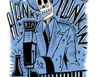 El Hank Williams (Day of the Dead Rock Stars) Print
