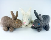 Knitting PATTERN, Knitted Bunny Rabbit,  PDF Pattern, Instant Download, Stuffed Toy Knitting Pattern, Easter Bunny