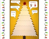 EZ - TREE Craft Project -  cardboard christmas tree