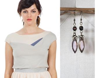 SET / Gift Set / Cap Sleeve / SALE set / Minimalist Fashion / Modern / Office Work Wear / Geometric Top / Geometric Fashion / Eco Fashion