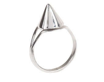 Silver Spike Protection Ring in your size