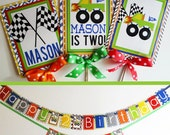 Monster Truck Birthday Party Decorations Fully Assembled Monster Truck Party Package Boy Birthday Party Monster Trucks Birthday Banner