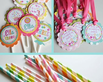 Sweet Shop Birthday Party Decorations Fully Assembled Rainbow Colors