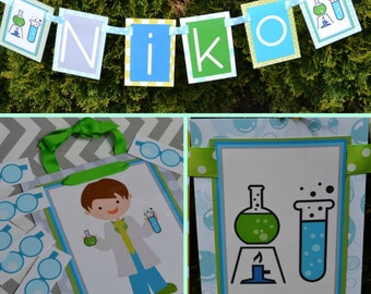 Boy Science Kid Birthday Party Decorations Fully Assembled