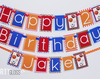 Sports Birthday Party Banner Decorations Fully Assembled