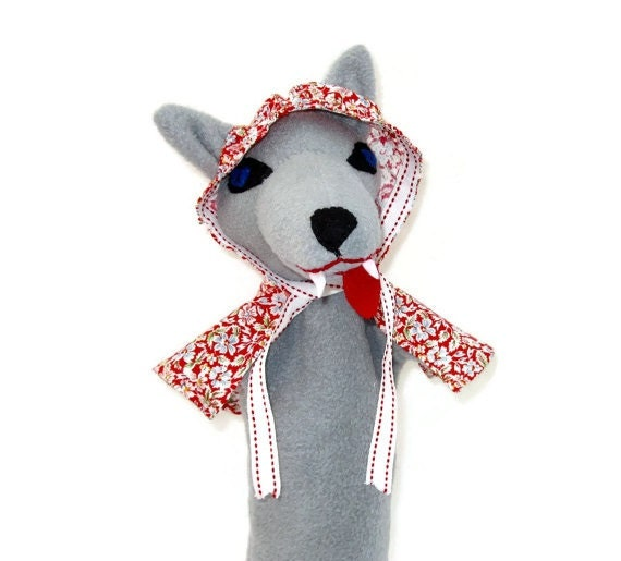 Big Bad Wolf ( or Good) - Hand Puppet Custom Made - Little Red Riding Hood or Three Little Pigs