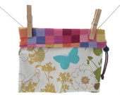 Checked Butterfly Reversible Project Bag, Medium