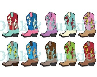 Cowboy boots clipart – Etsy