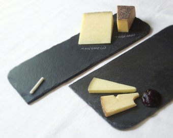 NEW! Assorted Med & Lg Salvaged Black SLATE CHEESEBOARD Placemat with Eco-Backing—Housewarming Wedding Registry [Pizarra Negra/Ardoise Noir]