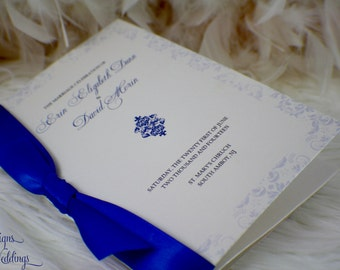 Damask Wedding Program - The Erin Collection