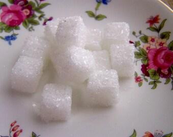 Twelve (12) Sparkly Sugar Cubes Gorgeous Fake Food Photo Prop