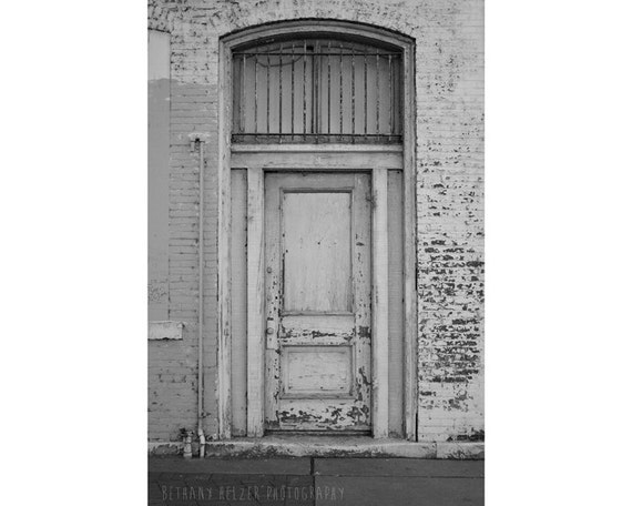 Architecture Art, Door Photography, 8x12 Print, Black and White Photography, Architecture Photography, Urban Decay, Home Decor, Wall Art