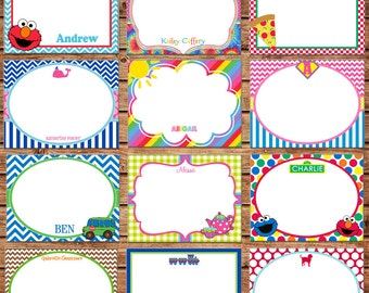 12 Girl or Boy Flat Thank You Note Cards with Envelopes - Made to match ANY of my invitations