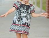 Summer Dress SEW GROOVY Peasant Dress Pattern - Girl Dress Pattern - PDF Sewing Pattern Sizes 6m-14c