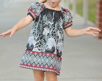 Easter Dress SEW GROOVY Peasant Dress Pattern - Girl Dress Pattern - PDF Sewing Pattern Sizes 6m-14c