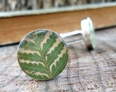 Real Fern Cufflinks - Preserved Fern Frond Cuff Links - Green Cufflinks - Rustic Woodland Wedding Groomsmen Gift -  Natural Pressed Leaf