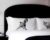 Pillow Fighting Set DINOSAURS Trex vs Triceratops pillowcases fight swanky wall rex boy child unique funny park room decor pillow case NEW