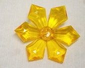 Vintage West German Acrylic Yellow Flower Brooch