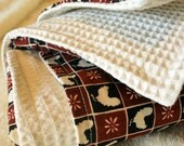 Kitchen Towel - Roosters and Thick Waffle Weave Cotton