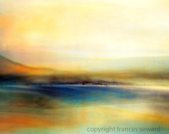 Devon Sea.  Fine Art Photograph.  Abstract Landscape. Giclee. Canvas