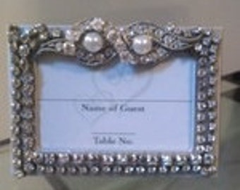 WeddingTable numbers name card  holders or Dinner Guest Card Holders  (Vintage Jewelry) 6 for 125.00(vintage Jewelry)(6)
