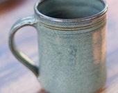 16 oz Handmade Ceramic Mug -- Slate Grey -- Hand crafted pottery-- Large hand thrown cup