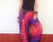Tie dye Harem Pant , Yoga pant, colourful pant ,on size fit most S-XL