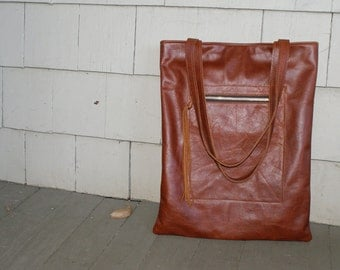 The HACKER - Leather Bag - Leather Tote - Leather Laptop Bag - Leather Computer Bag - Book Bag - Womens - Mens - More Colors