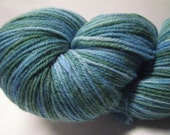 Tranquil Water - blue green sock yarn - superwash merino and nylon