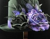 Dark Stranger Top Hat, Day of the Dead/Halloween/Mardi Gras/Wedding/Cosplay Accessory