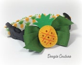 Tropical Summer Pineapple Dog Collar Size XS through Large by Doogie Couture Pet Boutique