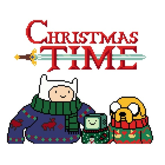 Basket Weaving Supplies Winnipeg : Cross stitch pattern adventure time christmas