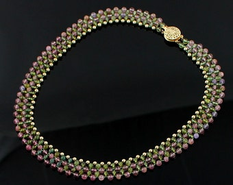 SALE Tourmaline and 14K Gold Necklace - Vintage - Down from 500.00