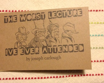 The Worst Lecture I've Ever Attended Zine