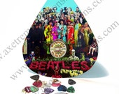 Giant / HUGE Guitar Pick Wall Art - Beatles Sgt Pepper Album Cover - Man Cave Music Room - Made in the USA