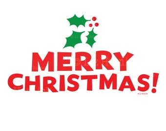 Merry Christmas Wall Art Sticker. Holiday Home Decor. Office Wall Decals. Wall Stickers.