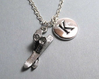Skiing Ski boots Silver Plated Charm Jewelry Supplies