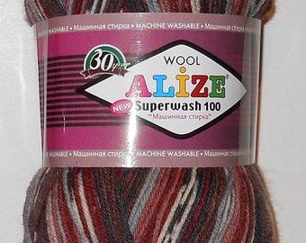 Alize Superwash Sock Yarn, 100g/459 yd, #4448