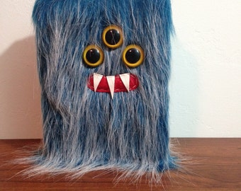 "Blueberry Frost Monster 5"" X 7"" Lined Journal- Three Yellow Eyes"