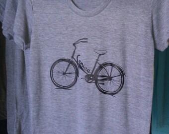 Venice Beach Bicycle Bike T-Shirt American Apparel Tri-Blend Grey Ladies S  M L or XL