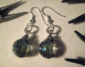 Holiday Rainbow Prism Glass Crystal Dangle Earrings, Choose Clip On Earrings or a Variety of Pierced Backings