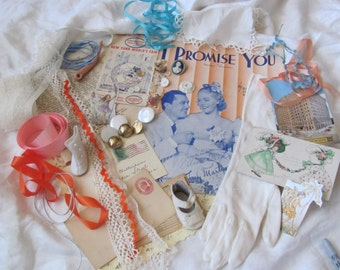 Antique Inspiration Kit for Craft, Scrap Book or Mixed Media Projects (lot 22)