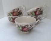 """Five Johnson Brothers """"Harvest Time"""" Cups"""