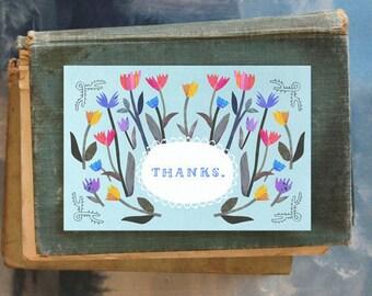 Tulip Thanks // Single Card // Fawnsberg Stationery